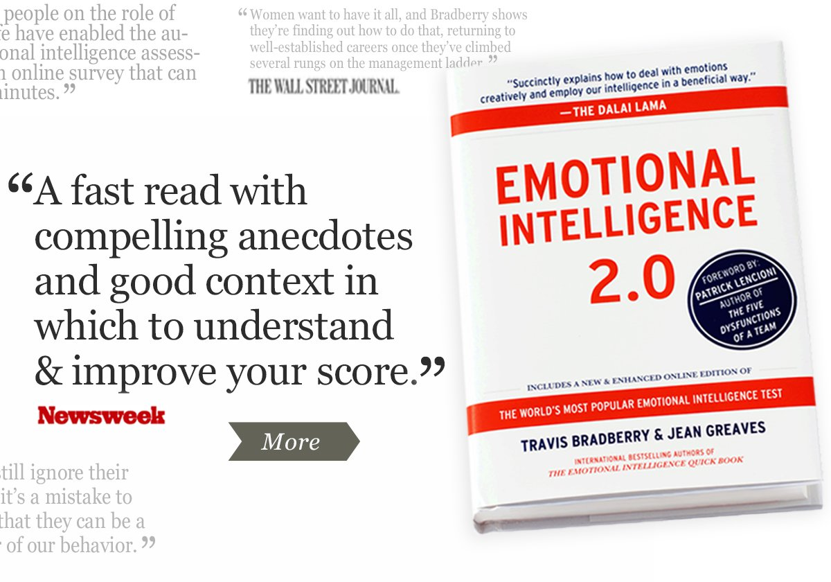 Emotional Intelligence 2.0 is a bestselling emotional intelligence book that teaches all four EQ skills, including self-awareness, self-management, social awareness, and relationship management. When you read this book you increase your self-awareness and discover things about yourself that you never thought possible.